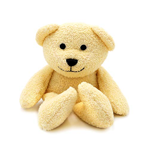 Thermal-Aid Zoo — Honey The Yellow Bear — Kids Hot and Cold Pain Relief Heating Pad Microwavable Stuffed Animal and Cooling Pad — Easy Wash, Natural Sleep Aid — Pregnancy Must-Haves for Baby