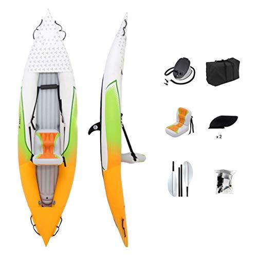 WWXXCC Kayak Inflable, Individual Espesado Canoa Deriva del Bote con Slide-en Big Cualquier Aleta de Deportes Marinos Pesca Aventura