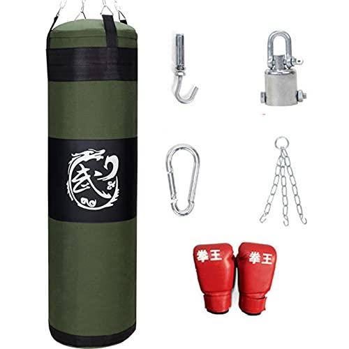 HAPPY-HAT 6 En 1 Traje De Bolsa De Arena, con 8 Oz Boxeo Guantes, Transpirable Y Resistente Al Impacto Equipo De Entrenamiento De Boxeo Usado para Taekwondo Kárate Entrenamiento De Boxeo