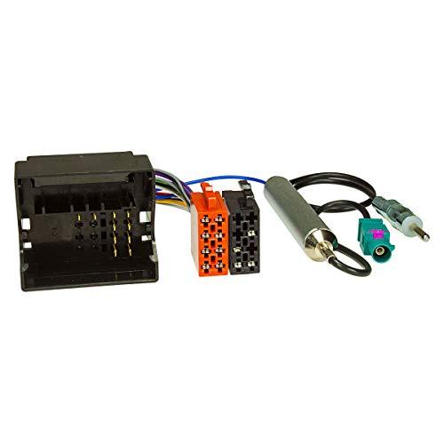tomzz Audio 7008-002 Radio Adapter Kabel passend für Citroen ab 2004, Peugeot ab 2005 Quadlock auf ISO + Antennenadapter mit Phantomeinspeisung Fakra auf DIN