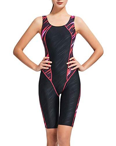 Donna Costume Da Bagno Scollo Rotondo Vestibilità Slim Spalline Larghe 1 M