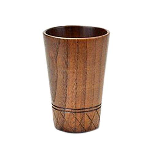 Drinkware-Tasses Tasse à bière Tasses en bois Mugs Tube créatif de bois massif