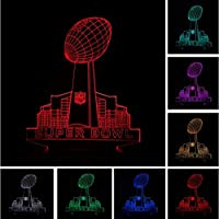新しいナショナルスーパーボウルフットボールビルディングナイトライト3Dイリュージョンバーライトカラフルな電球ランプ家の装飾スポーツファンのためのギフト
