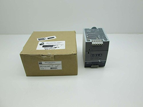 SOLA-HD SDN10-24-100P Power Supply; 24VDC@10A; 115/230VAC In; Enclosed; DIN Rail; Industrial; SDN Series