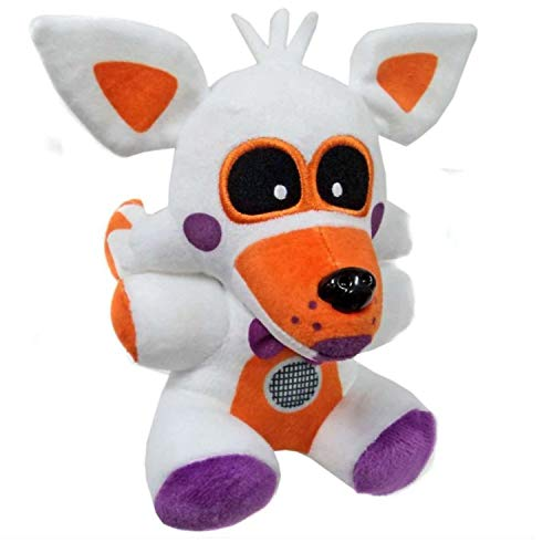 FNAF Plushies, Plush Figure Toys, 7 Inch Plush Toy - Stuffed Toys Dolls - Kids Gifts - Gifts for Five Nights at Freddys Fans, Fantom Foxy Plush, FNAF Nightmare Foxy Plush, FNAF Sister Location Lolbit