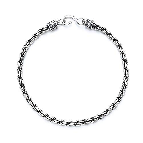 925 silver bracelet Ladies Adjustable Bracelets Bangles for Womens Jewellry Gifts Women Birthday Wedding Girls student retro personality All-match-1 8 cm long 7.3 competition weight