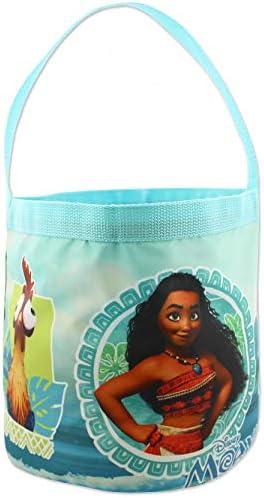 Moana Maui Girls Collapsible Nylon Gift Basket Bucket Toy Storage Tote Bag One Size Blue product image
