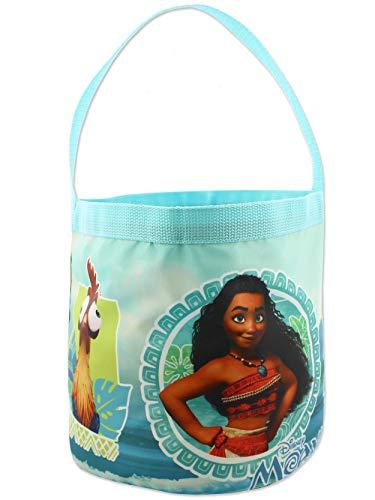 Moana Maui Girls Collapsible Nylon Gift Basket Bucket Toy Storage Tote Bag (One Size, Blue)