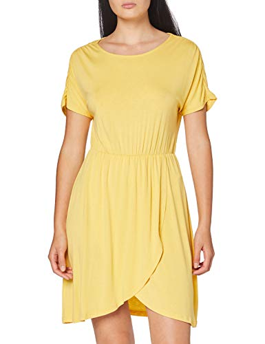 VERO MODA Damen VMDONNA SS Short Dress JRS DA Lässiges Kleid, Banana Cream, M