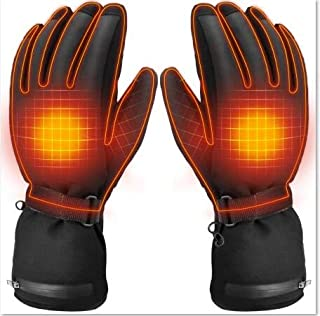 SUNB Rechargeable Electric Heated Gloves,Battery Powered Heating Gloves, ,Winter Outdoor Sport Riding Cycling Hunting Fishing Ski Snow Warm Insulated Glove, Work up to 3-6 Hours