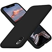 Cordking iPhone Xs Case, iPhone X Case, Silicone Ultra Slim Shockproof Phone Case with [Soft Anti-Scratch Microfiber Lining], 5.8 inch, Black