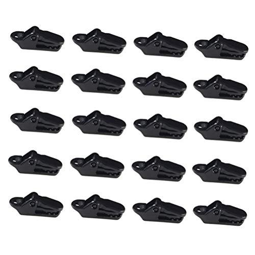Ruix 20 Pièces Pinces en Plastique Pour Tente, Noir Clips de Bâche Auvents Pour Activités De Plein Air (Résistants au vent)