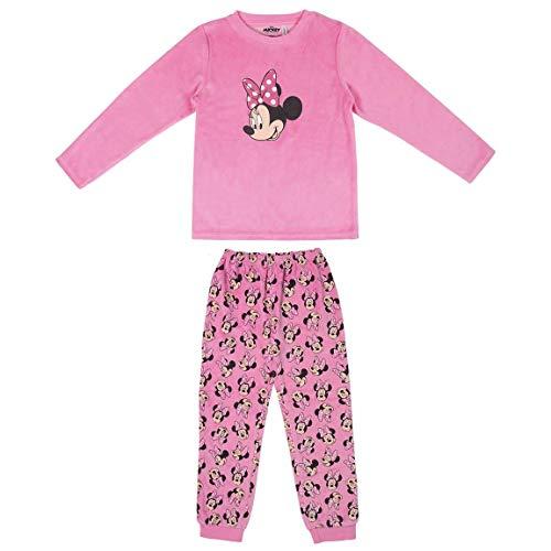 Disney Minnie Mouse Pijama para Niñas, Pijama de Invierno Acogedor, Pijama 2 Piezas de Terciopelo y Algodón Súper Suave, Regalo para Niñas, 2 a 6 Años (4 Años)