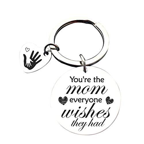 1 llavero de acero inoxidable para el día de la madre de mi madre es el mejor regalo para mamá