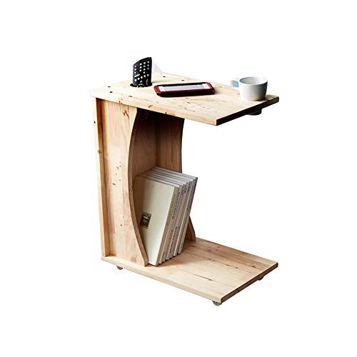 Schreibtische HAIZHEN Massivholz Round Table Wohnzimmer Beistelltisch Magazin Storage Table Rack Klapptisch