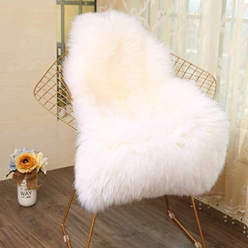 KYRD Nachahmung Lammfell Teppich 60 x 90 cm Lammfellimitat Teppich Künstlicher Fell Wolle Bettvorleger Sofa Matte (Weiß)