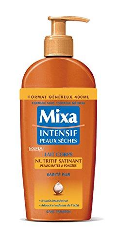 Mixa Intensif Peaux Sèches - Lait Corps Nutritif Satinant pour Peaux Mates à Foncées - 400 ml