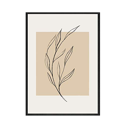 HJGB Vintage painting Matisse Picasso exhibition canvas poster wall art abstract plant home frameless decorative canvas painting A 30x40cm