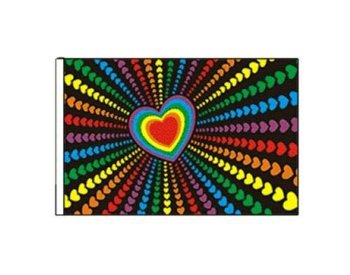 FlagSuperstore© Rainbow Love Bootsflagge 45 x 30 cm – Baumhäuser, Wohnwagen, Ärmel 45 x 30 cm – Gay Pride LGBTQ