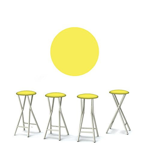 "Best of Times 13169W2504 Vintage Lemonade 30"" Padded Bar Stools-Set of (4), Yellow White"