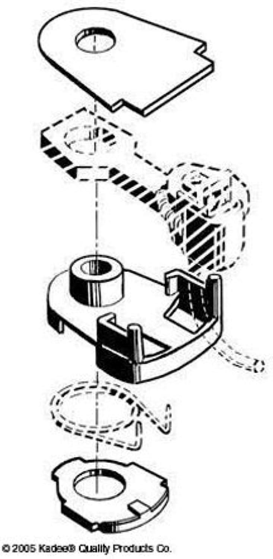 HO Coupler Box Lid, 30 Series (10pr) by Kadee Qualtiy Products, CO.