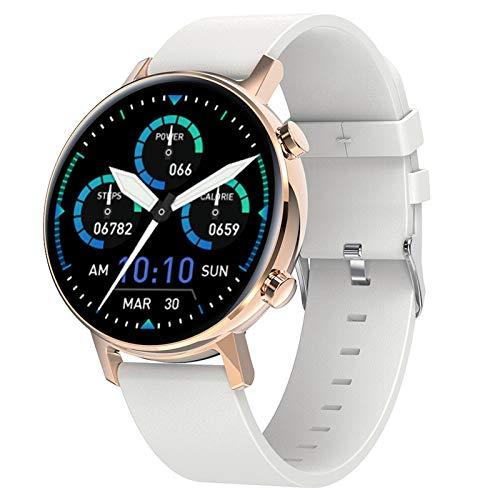 Smartwatch, Reloj Inteligente Impermeable IP68 Con Monitor De Sueño Pulsómetros Cronómetros Contador De Caloría, Pulsera De Actividad Inteligente Para Hombre Mujer Niños Con Ios Y Android,Blanco