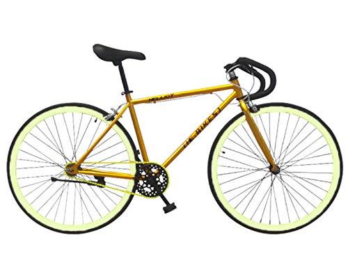 Helliot Bikes Soho 05 Bicicleta Fixie Urbana, Adultos Unisex, Oro, M-L