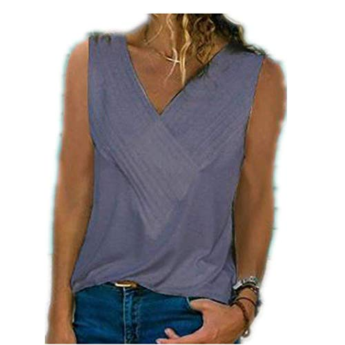 Spring and Summer Slim Stitching V-Neck Short-Sleeved solid Color T-Shirt Women