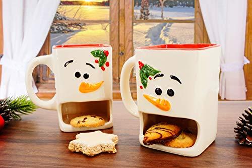 Weihnachtstassen mit Keksfach - 2er Set