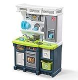 Step2 Lifestyle Custom Kitchen | Plastic Play Kitchen & Toy Accessories Set | Blue & Green Kids Kitchen...