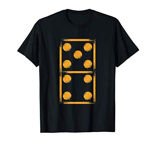 Dominostein Domino Dominosteine Spielsteine Steine Geschenk T-Shirt