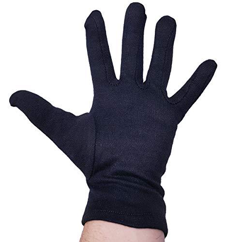 FRANZ MENSCH Hygostar Baumwoll-Handschuh NERO schwarz, Größe XL, Paar