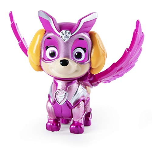 PAW PATROL Mighty Pups | Spiel-Figuren mit Spezial-Funktionen Hunde-Welpen, Figur:Skye