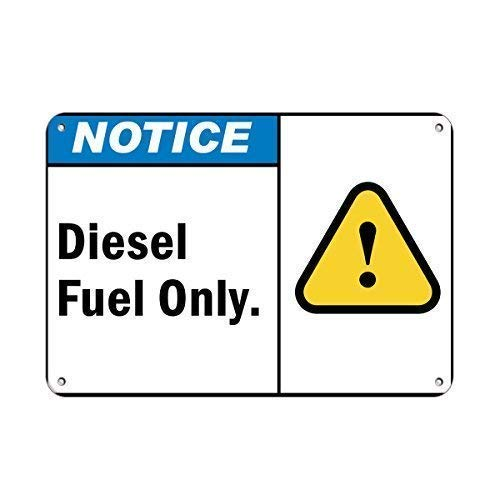 Tin Sign Warning Sign Notice Diesel Fuel Only Hazard Sign Flammable Room Metal Poster Wall Decor