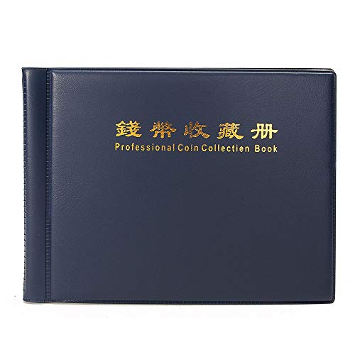 Cherry Juilt 60 Pockets Leather Paper Money Album Collect Book Banknote Currency Collection Album Holder Black Durable