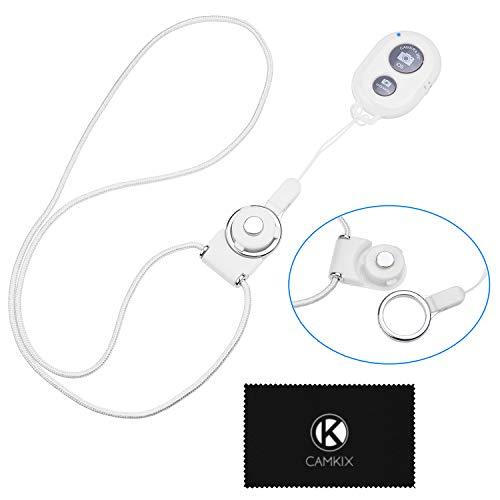 CAMKIX Control Remoto del Obturador de Cámara con Tecnología Inalámbrica Bluetooth Blanco – Cordón con Montaje de Anillo Desmontable – Capturar imágenes/Video Inalámbrico hasta 10 m