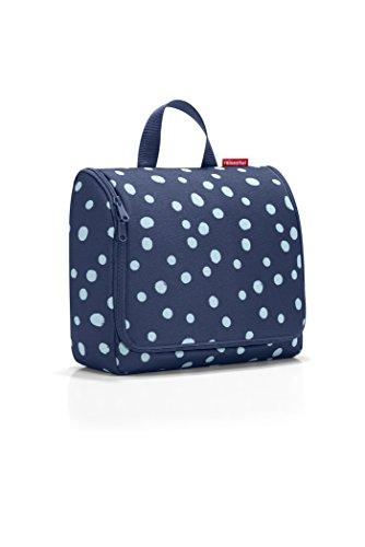 reisenthel toiletbag XL spots navy Maße: 28 x 25 x 10 cm / Maße: 28 x 59 x 9 cm expanded / Volumen: 4 l