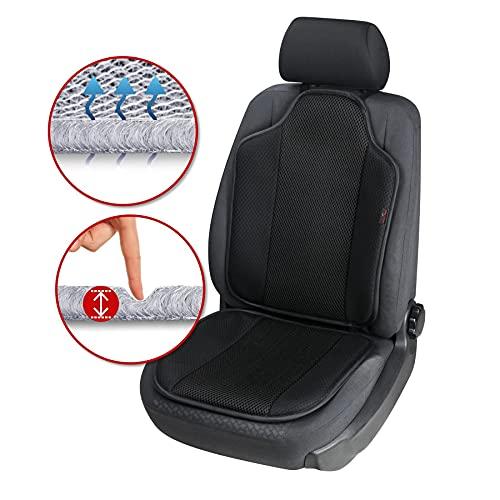 Walser Autositzauflage Aero-Spacer, atmungsaktiver Sitzschoner, universelle Schutzunterlage mit Polsterung, komfortable PKW Sitzauflage schwarz 13994