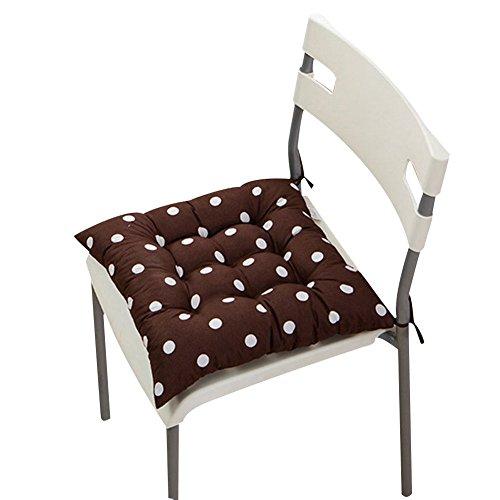 Stuhlkissen, einfarbig, gesteppt, weich, zum Festbinden, für zu Hause/Büro, Polyester, Coffee Polka Dot, #2-Coffee Polka DotHome Sofa Cushion Decoration