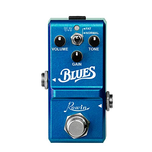 Muslady Blues Pedal Wide Range Frequency Response Blues Style Overdrive Effect Pedal for Guitar Rowin LN-321