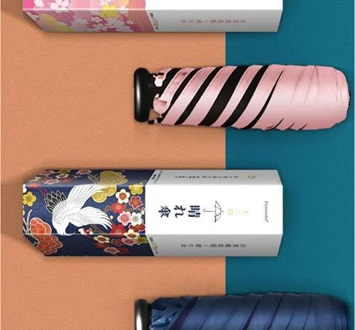 BESPD Japonais Thumb Parapluie Sunscreen Anti-Ultraviolet Sun Ulfraviolet Sun Ultra-Light Smart Mini Poche Portable Noir Colle,Rose