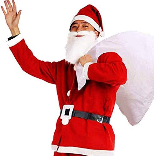 ROZZERMAN サンタクロース コスチューム 厚手 大人用 サンタ コスプレ 5点セット 7点セット 選べる 子供が大喜び間違いなし V5 (標 準5点セット)