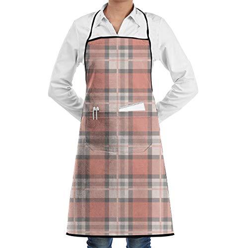 Liliylove Verstellbare Latzschürze mit Tasche, pfirsichfarben und braun, für Männer und Frauen, Küchenschürze zum Kochen, Backen, Basteln, Gartenarbeit, Grillen