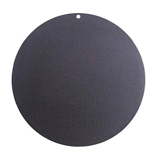 SANTOS Backplatte Carbonstahl, Pizzastein aus Stahl, Rund, Ø 36,5 cm