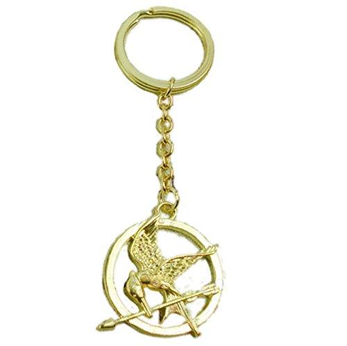 Yulo Retro Tribute von Panem - Mockingjay The Hunger Games Gold Schlüsselanhänger Schlüsselring