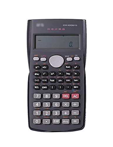 THHN Calculadora científica de función Multifuncional, Pantalla de 12 dígitos de Doble línea Mini calculadora portátil, Estudiante Contable Adecuado (Color : Black, tamaño : 12 bits)