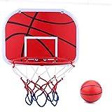 VGBEY Tablero de Baloncesto para niños, Mini Tablero de aro de Baloncesto Colgante con Red, Bola, Bomba de Aire,Mini Juego de aro de Baloncesto Slam Dunk