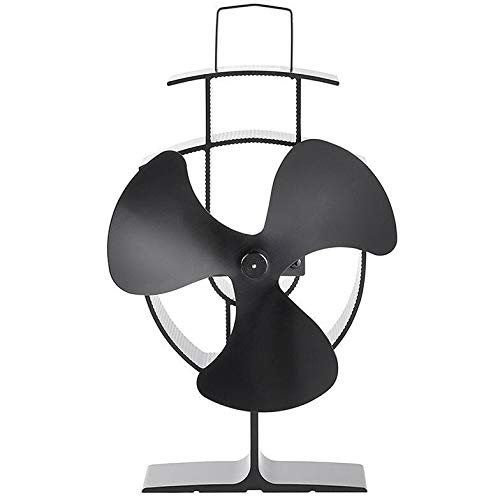 Kachelventilator Brandhout Milieubescherming Ventilator thermisch Gedreven Ultra-rustige 3-bladige Open haard Blower Voor Efficiënte Warmte Afvoer log brander ventilator