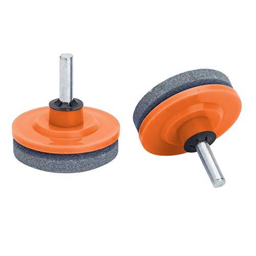 Agoky Messerschärfer Schleife Teller Stein für Schlagbohrmaschinen Handbohrmaschinen für Rasenmäher Elektro Werkzeug Ersatzteile Orange One Size