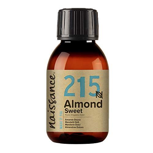 Naissance Huile d'Amande Douce (n° 215) – 100ml – 100% naturelle, végan, sans OGM – inodore, parfaite pour les massages, les cheveux et la peau